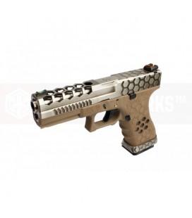 AW VX0110 Hex Cut Signature Model 17 GBB Airsoft Pistol