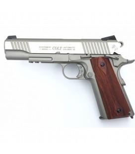 Cybergun COLT 1911 Rail Gun Stainless GBB Pistol Co2 Mag Version