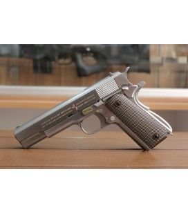 WE M1911A1 ( Silver / Brown Grip )